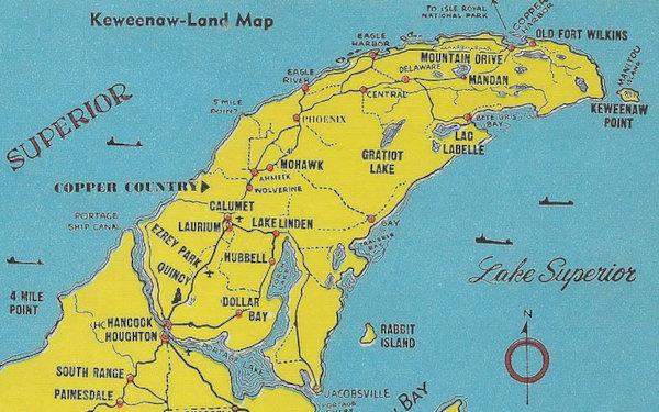 Map of Keweenaw Peninsula