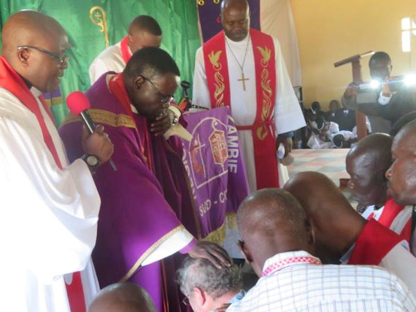 Rev. Paul Webster blessed by Zambian Annual Conference
