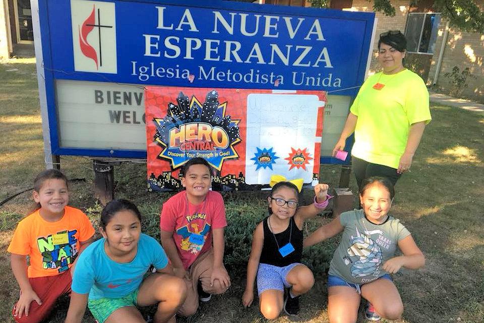 Children at VBS at La Nueva Esperanza
