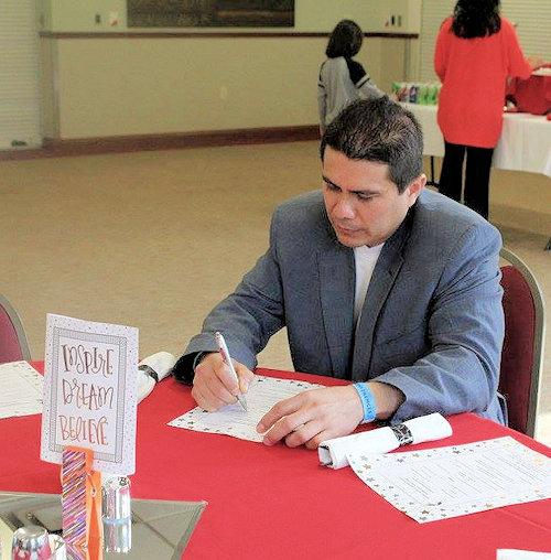 Rev. Rey Mondragon at the Hispanic Youth Leadershp Academy in 2017