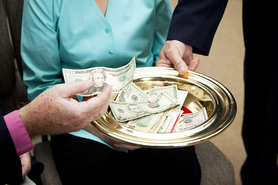 Church offering plate.