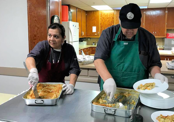 Meal served to Native American Seniors in Grand Rapids