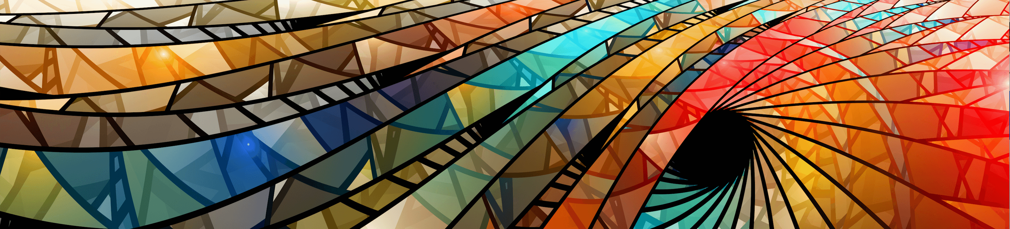 Vibrant, colorful, stained glass