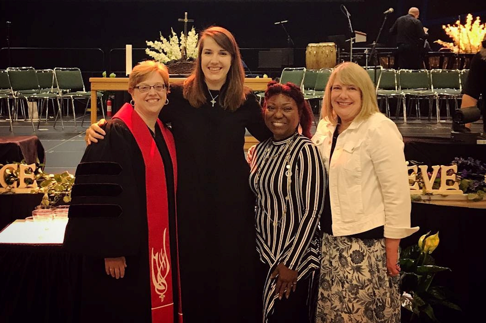 Rev. Brittney Stephan with her mentors