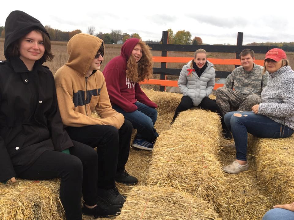 Ferris Student Jordan Brinker works with youth