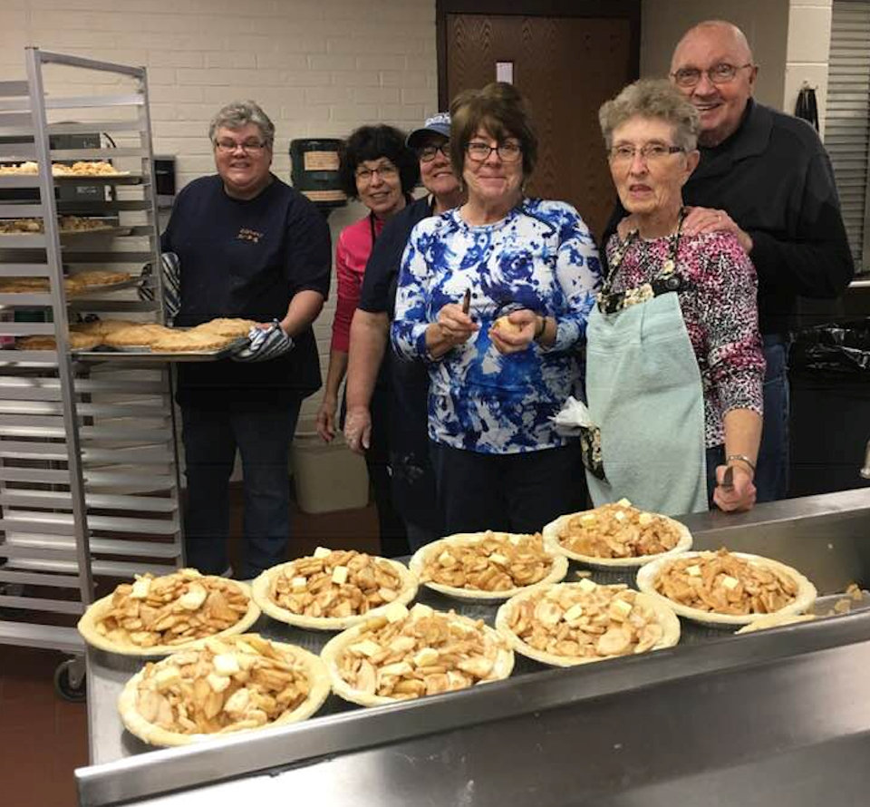 Baking pies at Frankenmuth UMC