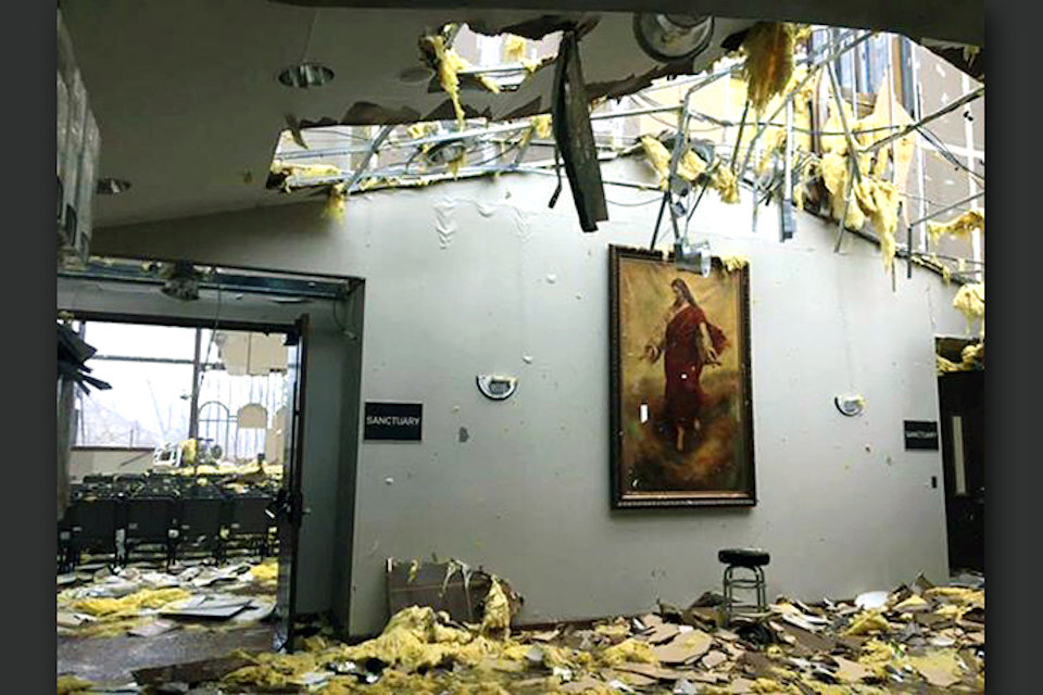 Church torn up by Hurricane Michael