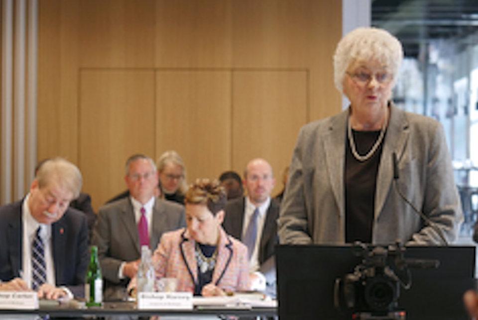 Patricia Miller addresses Judicial Council