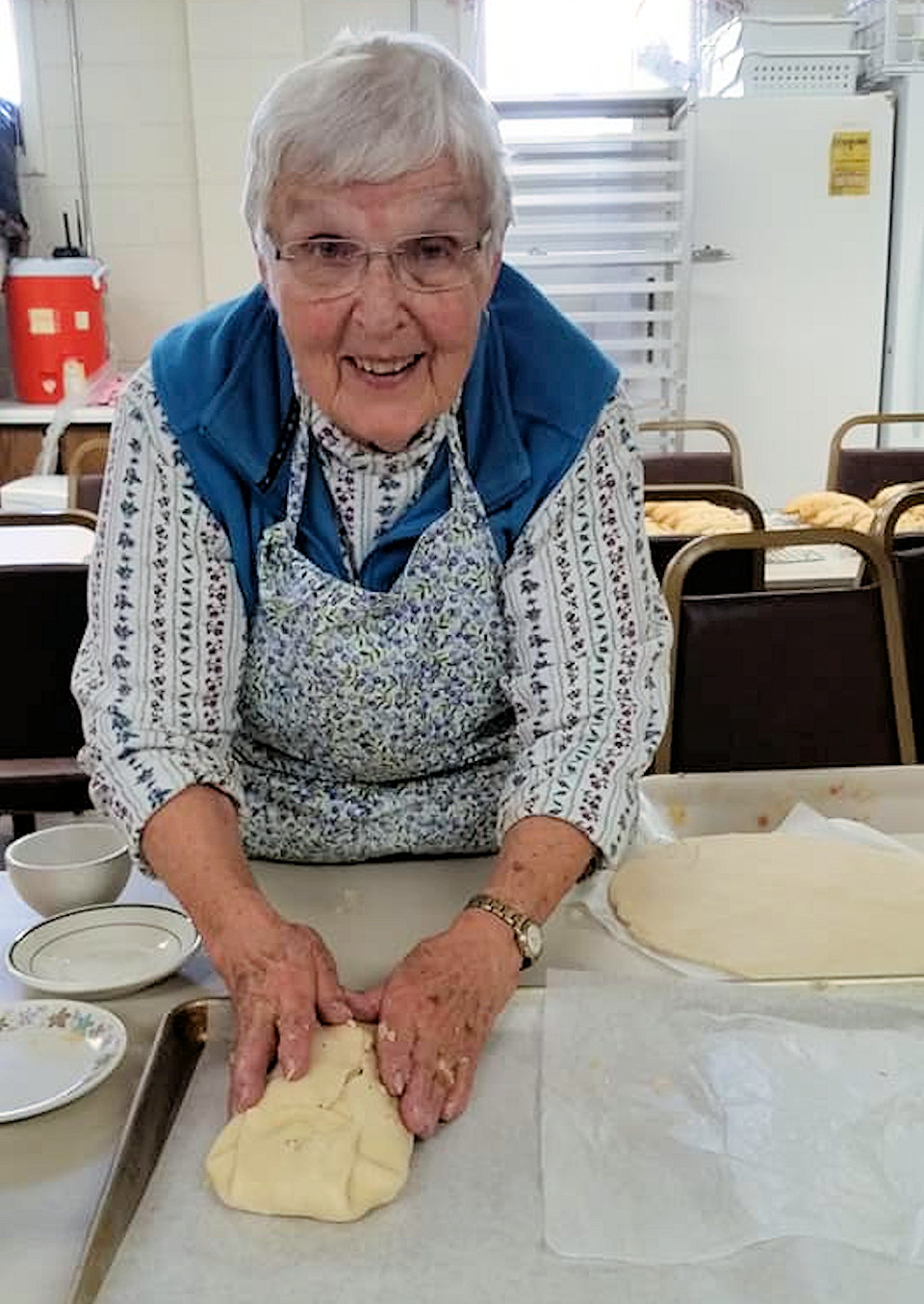 Woman making pasties