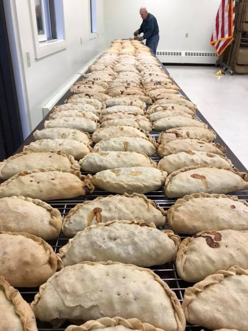 Pasties made at Skandia UMC