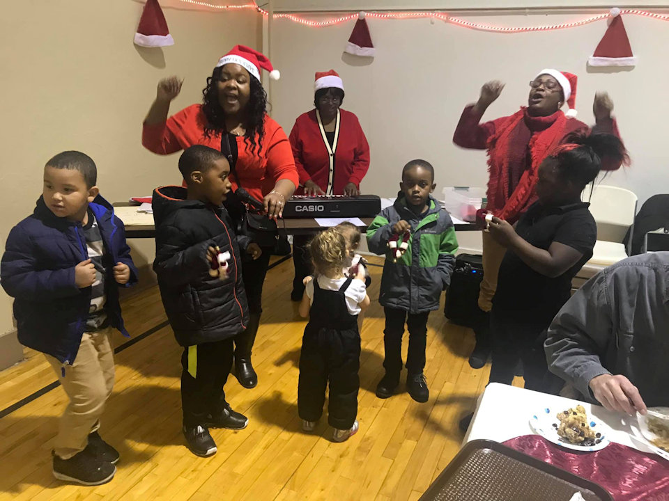Children celebrating at Supper House in Muskegon Heights