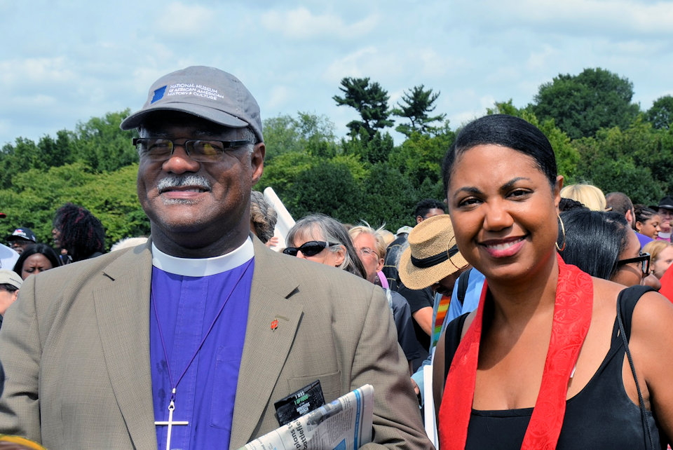 Bishop Julius C. Trimble attending a march for justice August 2017