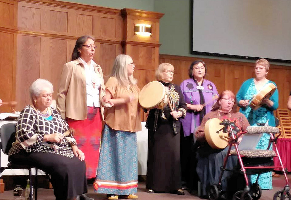Greensky Indian UMC Drum Voices at 2018 Conference UMW Annual