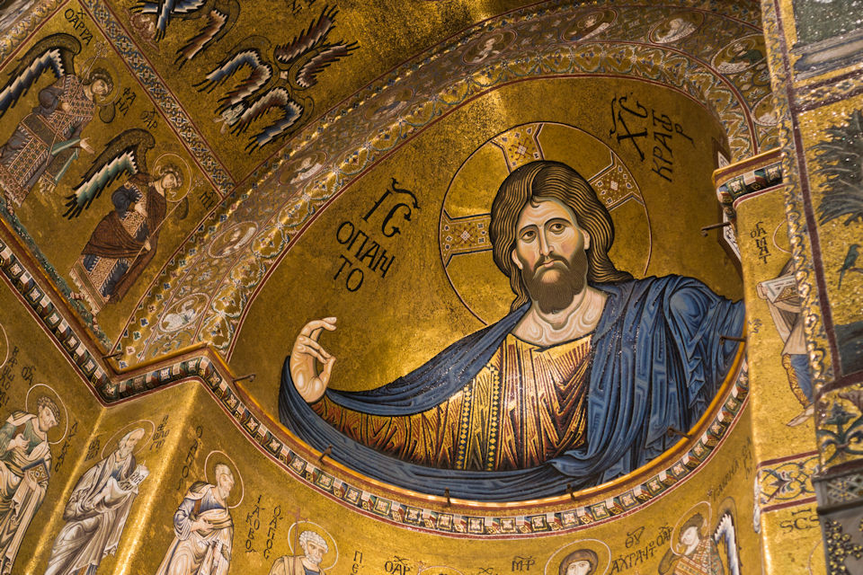 Mosaic of Christ the King in Sicily