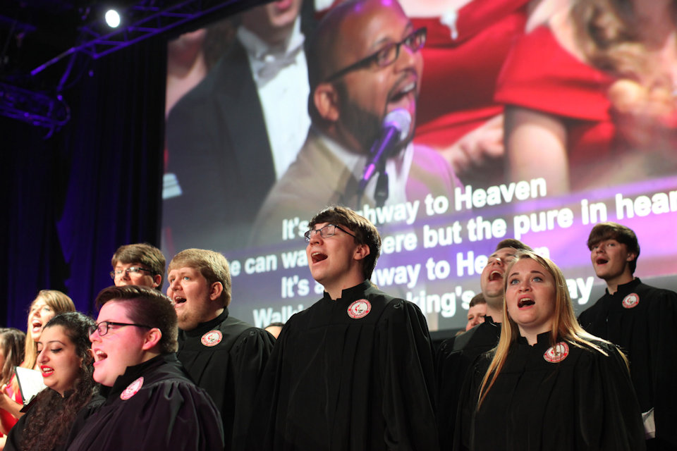 College choirs singing at 2016 General Conference