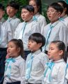 Korean Children's Choir sings at Roundtable
