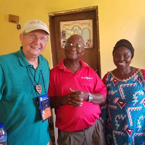 Terry Euper with Robert Sieh at Judith Craig Children's Village