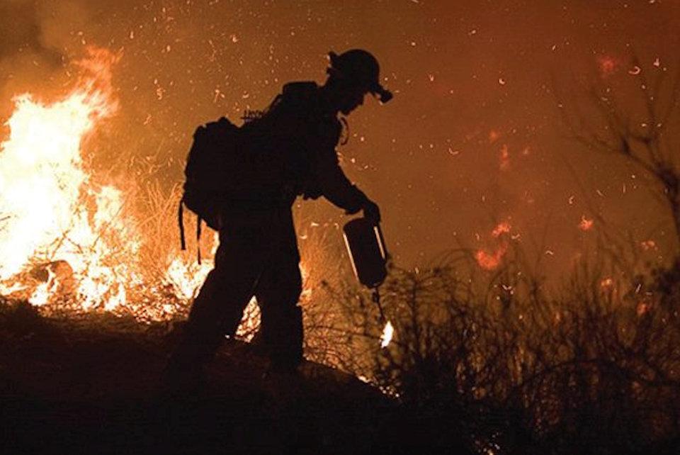 Firefighter in California