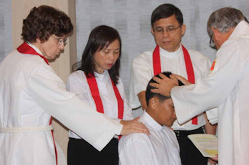 Local Elders being ordained in Vietnam
