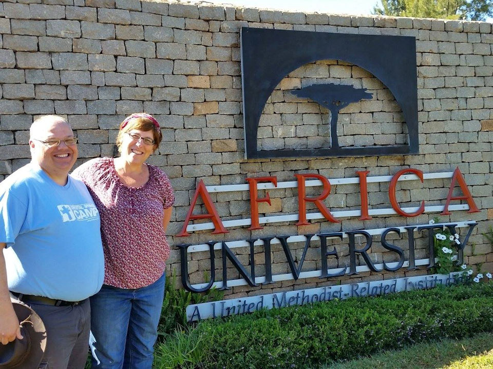 Greg Lawton and Lisa Batten at Africa University