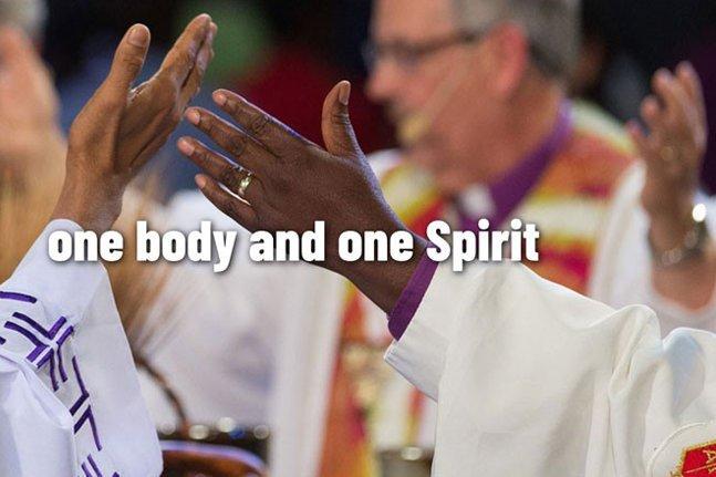 United Methodist bishops celebrating unity