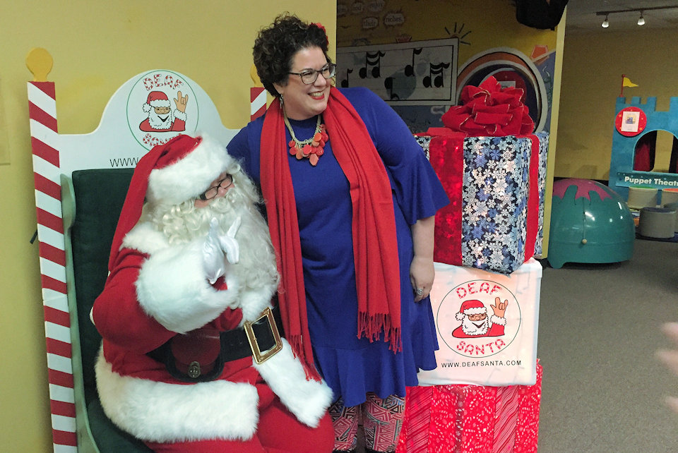 Rev. Christy Miller-Black with Deaf Santa