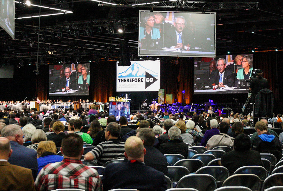 Plenary session of the 2016 General Conference in Portland, OR