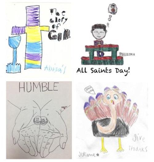 Children's bulletin art