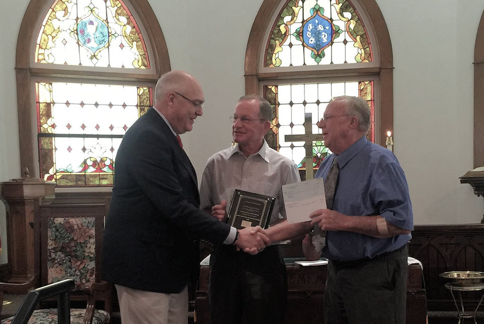 United Methodist Foundation of Michigan presents a Wayne C. Barrett Award.