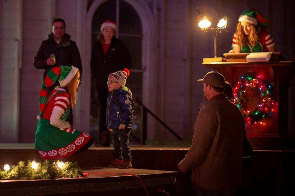 Families visit Santa at Crystal Springs Camp