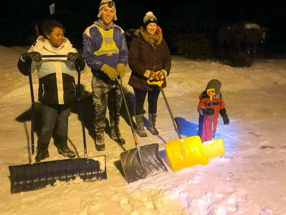 Snow Shoveling elderly of Kalamazoo 1st UMC