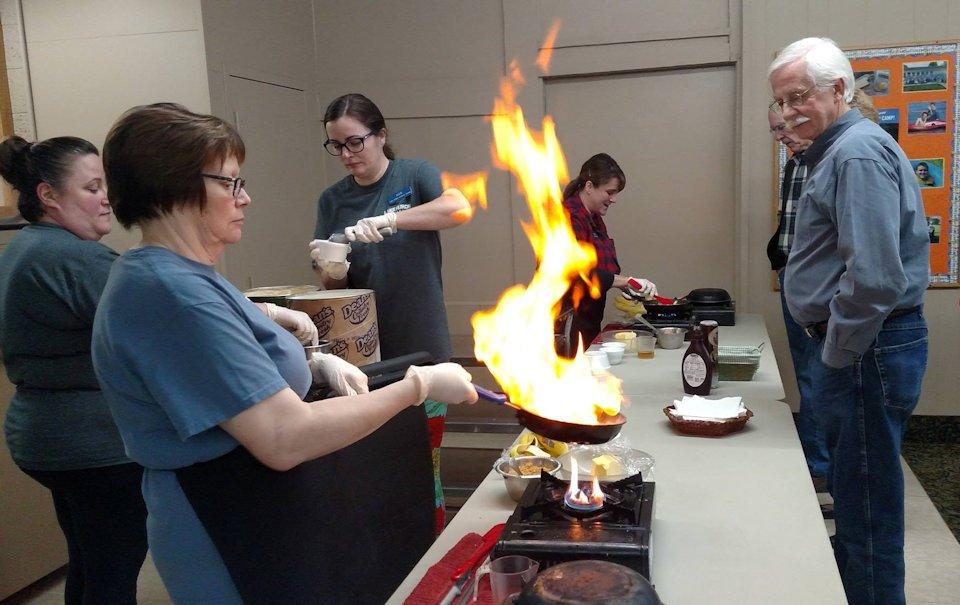 Cooking at Lake Huron Retreat Center