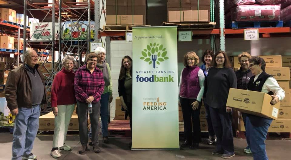 Volunteers from Lansing: Asbury UMC at Greater Lansing Food Bank