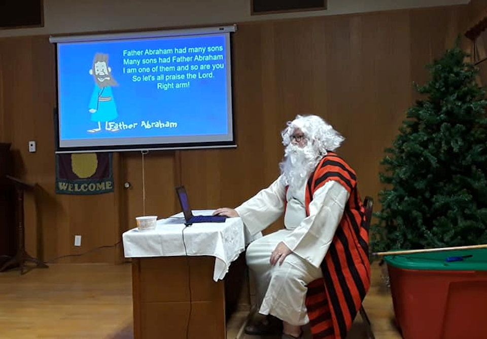 Father Abraham visits Messy Church at Lincoln Community UMC