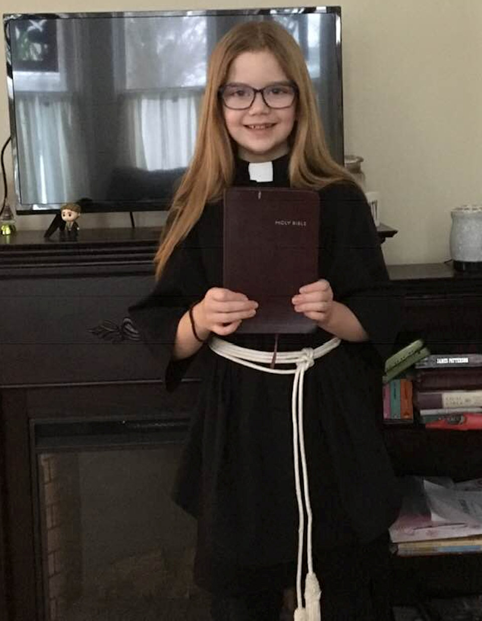 Child dressing as a Deacon