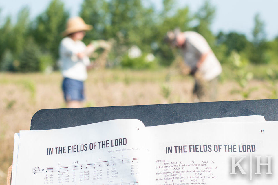 Working the field to sacred music
