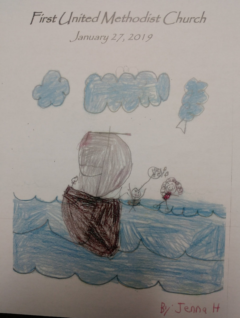 Bulletin Cover with children's art