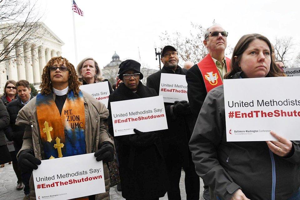 United Methodists protest government shutdown January 17, 2019