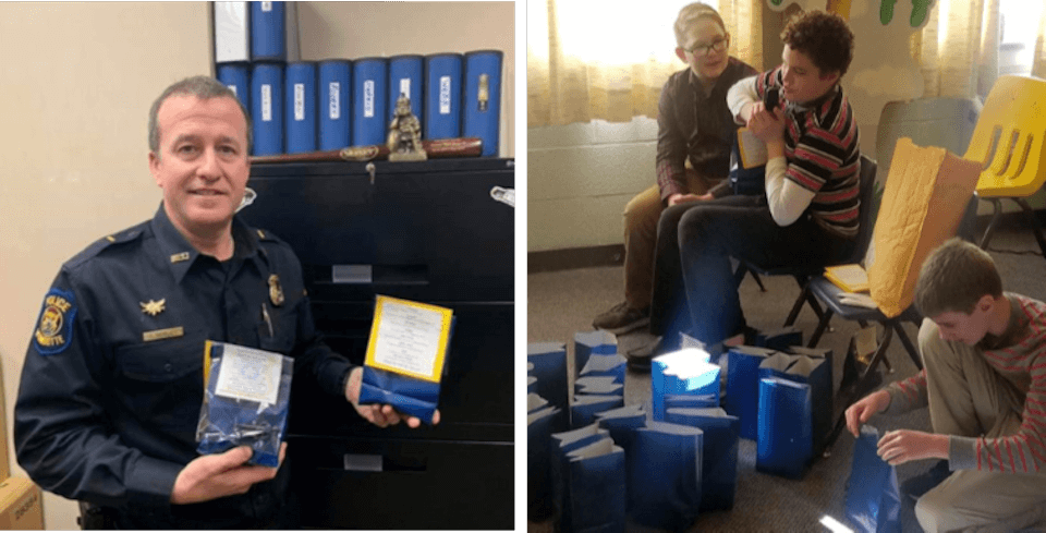 Sunday School of Wyandotte First fills Police Appreciation Bags