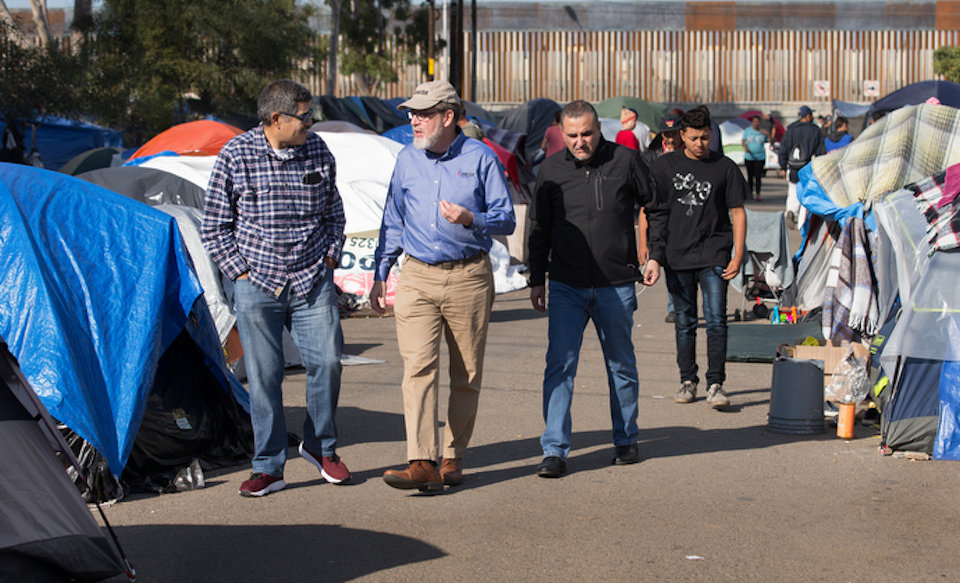 UMCOR's Jack Amick assesses situation in migrant camp