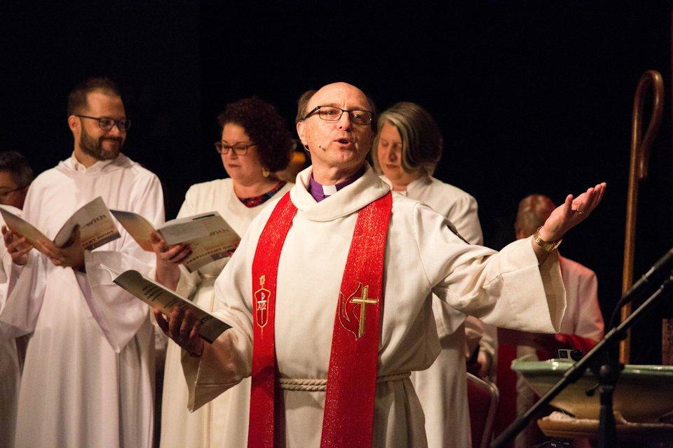 Bishop Bard with 2018 ordinands
