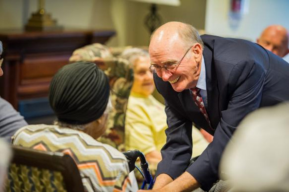 Bishop Ken Carder at Bethany Memory Care Unit