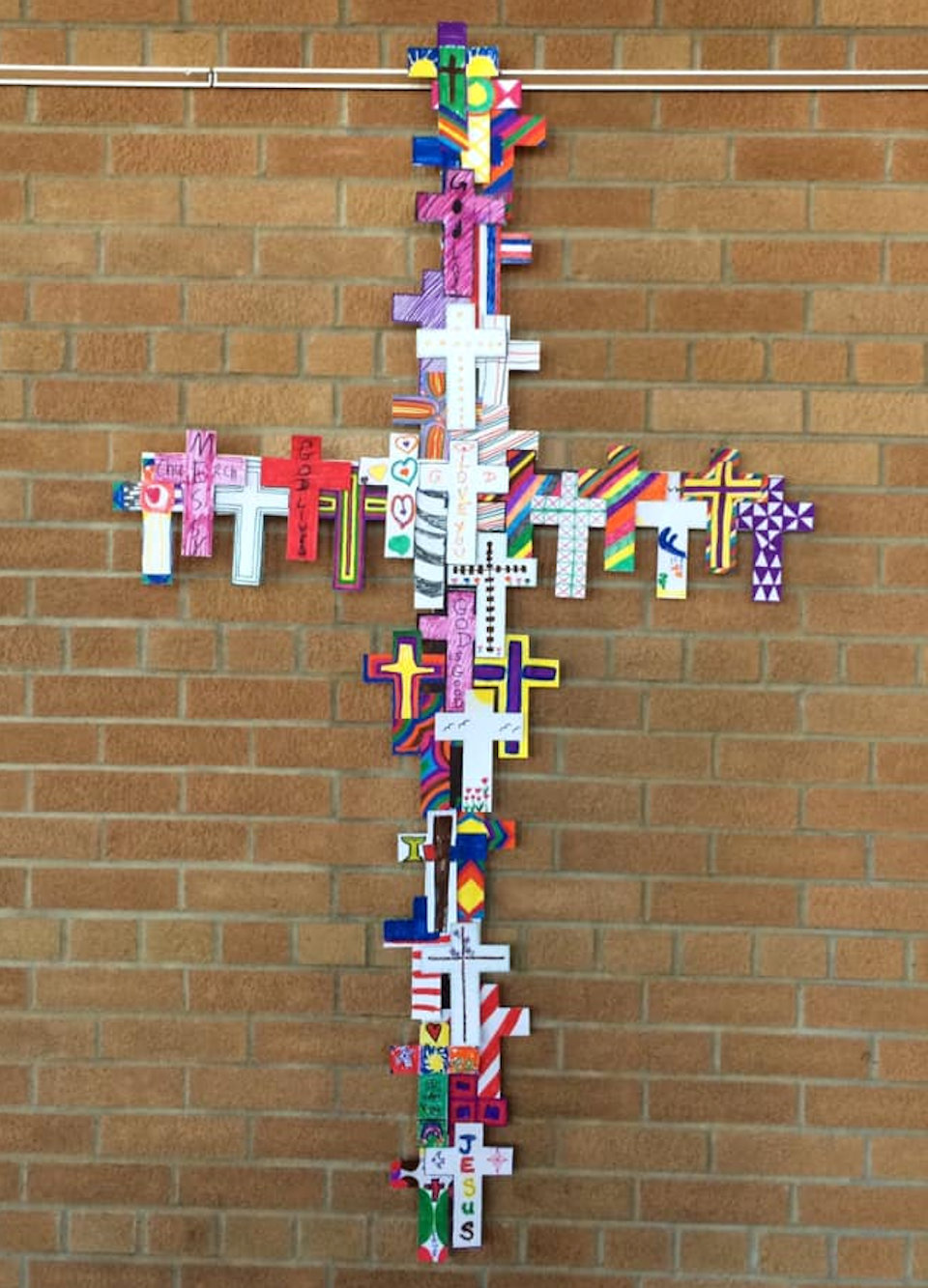 Cross made of crosses