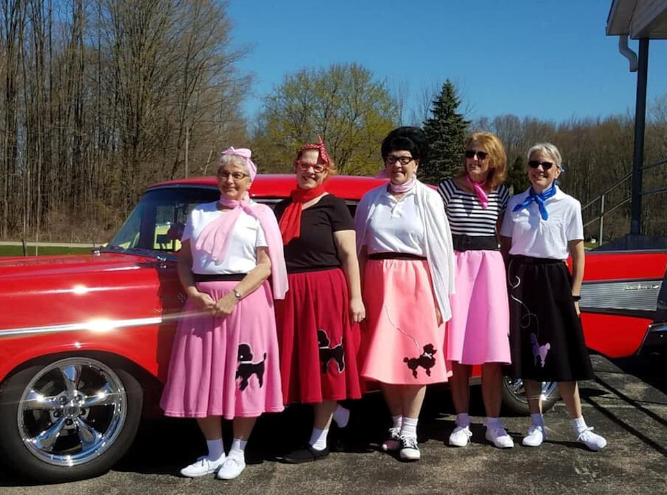 Women in poodle skirts