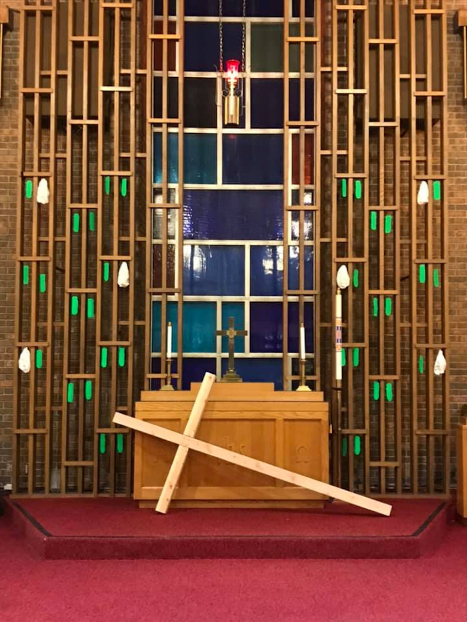 Front of the sanctuary at Flat Rock UMC