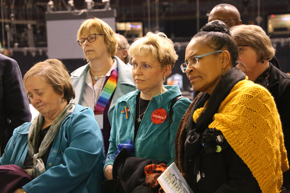 Persons experiencing sadness and grief at GC 2019