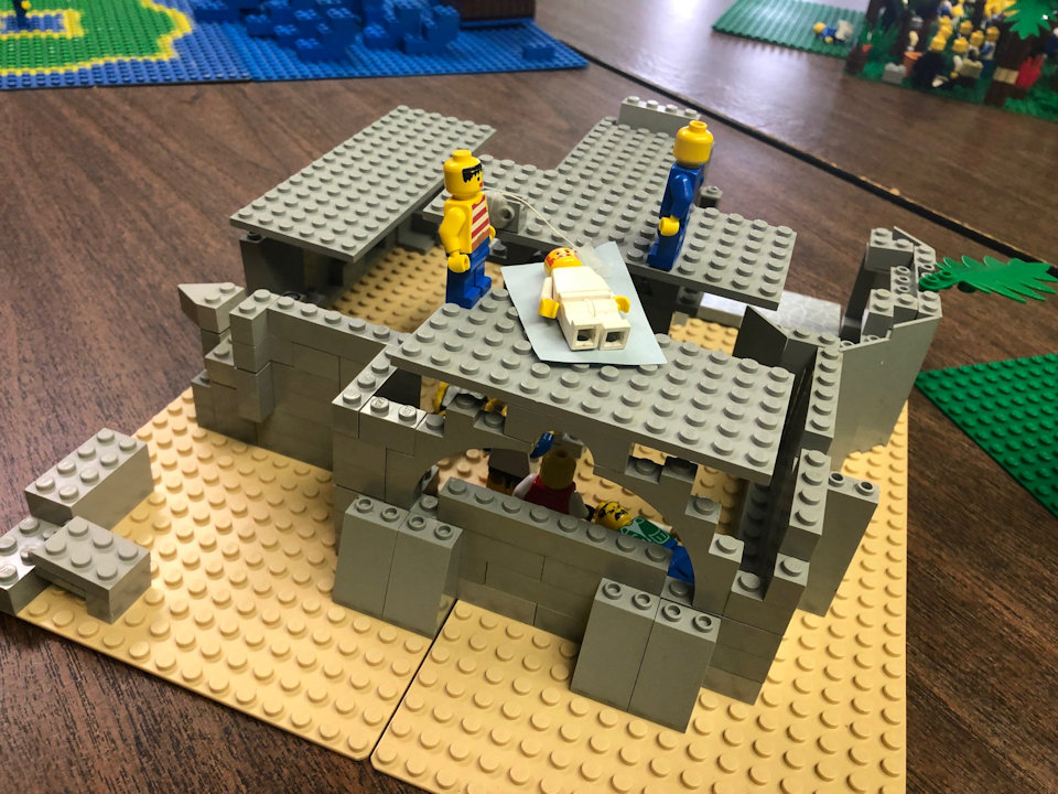Lego structure of Bible story