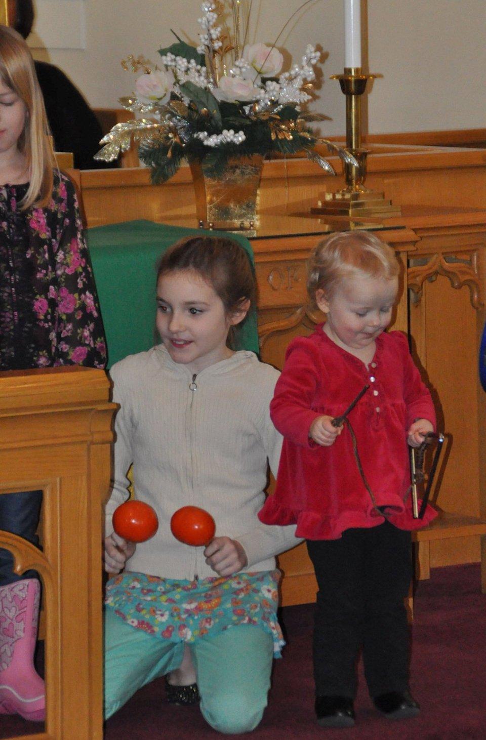 Children with rhythm instruments