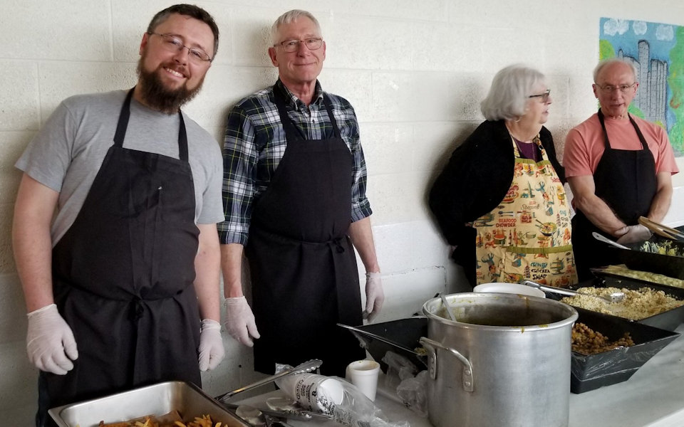 Feeding the hungry at Cass Community Social Services