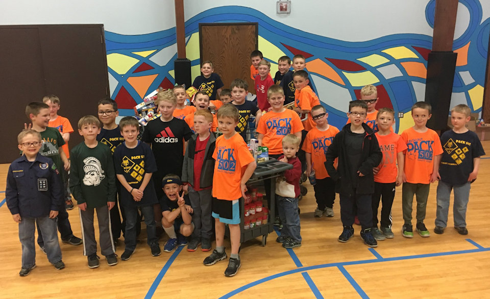 Scout Troop at DeWitt REdeemer UMC